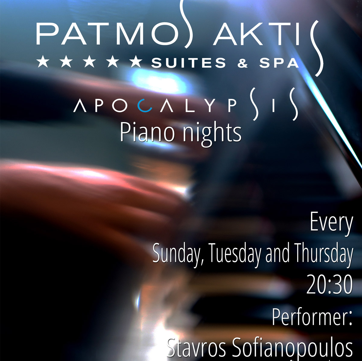 Summer 2017 Patmos Aktis Piano Nights